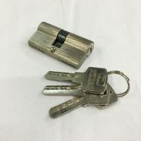 Buy cheap 60mm Double Aluminum Cylinder with 3 iron computer keys Surface finish Aluminum brushed from wholesalers