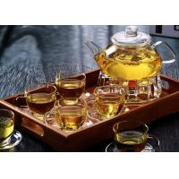 Buy cheap Microwavable Clear Glass Teapot With Infuser 1000ml For Flower Green Tea from wholesalers