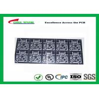 Buy cheap Black Regular Printed Circuit Board 2 Layer PCB Black Solder Mask CNC Routing from wholesalers