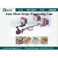 Darin Meat Strip Cutting Machine , Meat Strips Dog Treats Pet Food Processing Line Manufactures