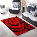 Buy cheap Rubber Backing Modern Design Shaggy Silk 3D Carpet from wholesalers