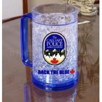 Wholesale plastic beer mug PS material beer mug custom LOGO ICE BEER MUG from china suppliers
