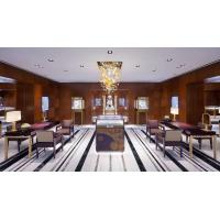 Buy cheap Luxury Jewelry Store interior design of Display showcase made by Stainlesss steel with Tall cabinets in Golden color from wholesalers