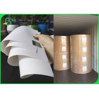 Buy cheap FSC Bleached Kraft Paper Rolls 36inch 80gsm 120gsm White Wrapping Paper from wholesalers