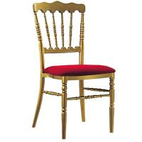 Buy cheap YLX-2009 Stackable Golden Chiavari Chair with Red Fabric Cushion from wholesalers