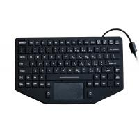 Buy cheap 89 keys rugged black silicone military keyboard with EMC 1.8m coiled USB cable from wholesalers