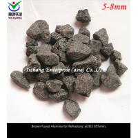 Buy cheap Brown Fused Alumina withhigh temperature, corrosion for the raw material of  Unshaped refractory, stereotypes refractory from wholesalers
