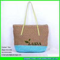 Buy cheap LUDA Extra Large Blue Beach Bag Fashion Crochet Paper Crochet Straw Bags from wholesalers