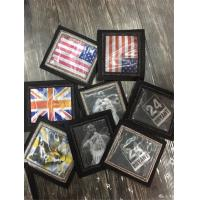 American Flag with Skull and Crossbones Aquare Shaped Handmade Embroidery Patch Custom Bullion Badges Manufactures