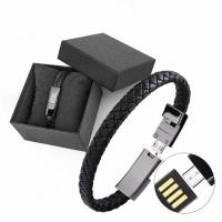 Buy cheap Fast Usb Leather Charging Cable , Bracelet Data Charging Cable CFT-B21 from wholesalers