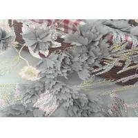 Buy cheap Water Soluble Embroidery Pink Lace Fabric /  100% Polyester Yellow Lace Fabric from wholesalers