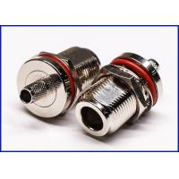 Buy cheap Waterproof joint connector N type straight female through wall waterproof crimping from wholesalers
