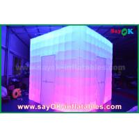 Buy cheap Customized  Shape PVC Coating Inflatable LED Photo Booth With Charming from wholesalers