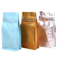 Buy cheap Customized Size Aluminum Foil Stand up Zipper Pouch Coffee Bags with Valve from wholesalers