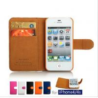 Buy cheap Leather Brown Cellphone Case Flip With Wallet Style For iPhone / Samsung / HTC from wholesalers