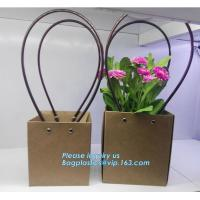 Buy cheap Cardboard flower packing boxes flower paper carrier bags flower packaging,book bag custom canvas shopping bag eco friend from wholesalers