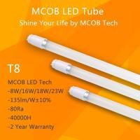 Buy cheap MCOB T8 LED Light Tube 18W(60W equivalent), 2430lm Energy Saving Fluorescent Tube Replacement from wholesalers