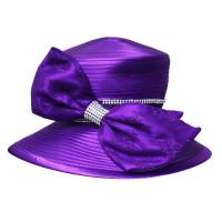 Lace Covered Big Bow Satin Braid Ladies' Church Hats , ladies formal hats Manufactures