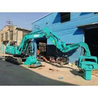 Buy cheap Green Color Mini Pile Driver , Small Pile Driving Equipment Compact Structure from wholesalers