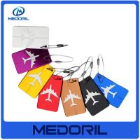 Wholesale Custom logo top quality metal aluminum luggage tag With Steel Strap from china suppliers