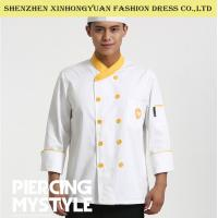 Buy cheap Restaurant Double - Breasted Long Sleeve Executive Chef Coats For Men from wholesalers