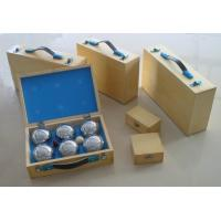 Buy cheap boules/petanque wooden box,can be print/hot stamping logo,wholesale boule,retail petanque from wholesalers