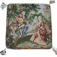 Buy cheap Court designs tapestry decorative pillows jacquard fabric chair cushion covers from wholesalers