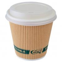 Buy cheap 8oz / 12oz / 16 Oz Disposable Coffee Cups With Lids , Sleeve Single Wall Coffee Cups from wholesalers