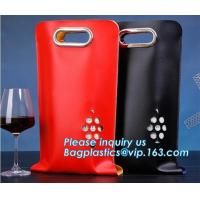 Buy cheap Eco friendly Neoprene 2 Pack Bottle Carrier Extra Thick Insulated Baby Bottle Cooler Bag Tote Wine Bottle Protector pack from wholesalers
