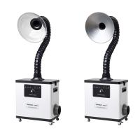 Metal body White table top fume extractor for beauty salon fume & moxibustion fume Manufactures