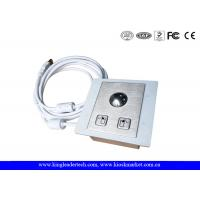 Quality Panel Mounted Industrial Pointing Device Stainless Steel Trackball Left Right Click Buttons for sale