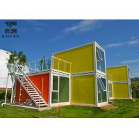 Buy cheap Art Decorative Prefabricated Container House , Vacation Prefab Sea Container Homes from wholesalers