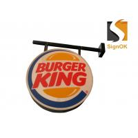 China Burger  Illuminated Sign Box , Vacuum Forming Light Box Round Shape on sale