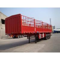 China 30T - 60T 3 Axle Mechanical Suspension Side Wall Trailer for Cargo Shipping on sale