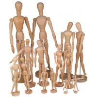 Buy cheap Full Size Wooden Human Mannequin / Figure , Wooden Drawing Doll For School from wholesalers