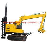 Buy cheap Hydraulic Power Pole Bore Pile Drilling Machine Auger Crane Pile Driver in India from wholesalers