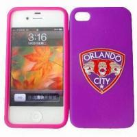 Buy cheap Silicone Mobile Phone Cases for iPhone 4/4S, Customized Designs and Logo from wholesalers