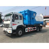 Buy cheap 9.726L Engine 18CBM Special Purpose Truck  / Garbage Container Lift from wholesalers