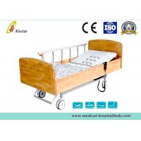 Buy cheap Wooden Side Board ABS Homecare Electric Hospital Beds With Central Control Brake (ALS-E510) from wholesalers