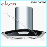 Buy cheap 60cm Tempered Glass Push Button Baffle Filters Chimney Cooker Hoods from wholesalers