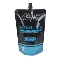 Buy cheap custom printing stand up pouch glossy plastic spout doypack liquid hair lotion packaging bag from wholesalers