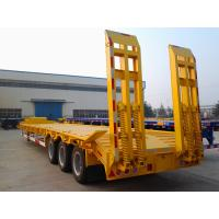 Buy cheap 3 axles 60ton low loader low bed semi trailer low boy trailer on sale from wholesalers