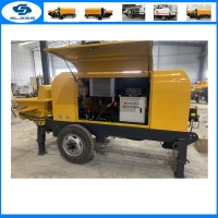 Buy cheap New Condition and Diesel Power Type Trailer concrete pump from wholesalers