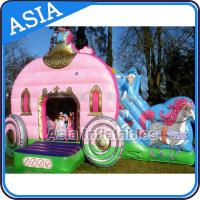 Buy cheap Inflatable Royal Carriage Moonwalk Bouncer For Children Party Hire Games from wholesalers