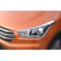 Buy cheap Chrome Front Car Headlight Covers Molding Trim Cover Garnish For Hyundai IX25 from wholesalers