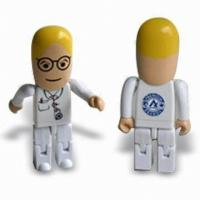Buy cheap 1GB 2GB Plastic Unique USB Flash Drive , Funny 1GB USB Stick People from wholesalers