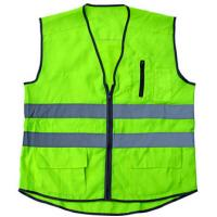 Buy cheap PPE Reflective Safety Workwear Vest Reflective Stripe With Pocket Zipper from wholesalers