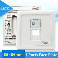 Buy cheap Network Cable Accessories 1 Port Type Wall Face Plate For Telecommunication from wholesalers