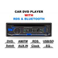 Bluetooth Car Stereo Dvd Player Single Din Fixed Panel Front Aux Input