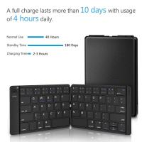 Wholesale Rechargeable Full Size Ultra Slim Folding Keyboard Compatible IOS Android Windows Smartphone Tablet and Laptop from china suppliers